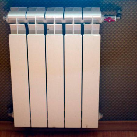 Simulación del uso de la termografía en un radiador